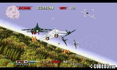 Screenshot for 3D After Burner II on Nintendo 3DS
