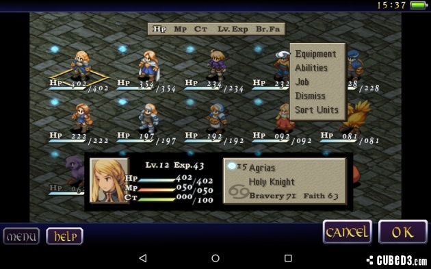 Screenshot for Final Fantasy Tactics: The War of the Lions on Android