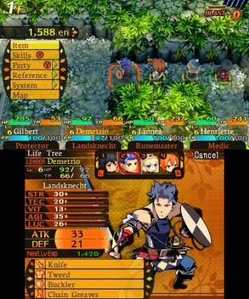 Screenshot for Etrian Mystery Dungeon on Nintendo 3DS