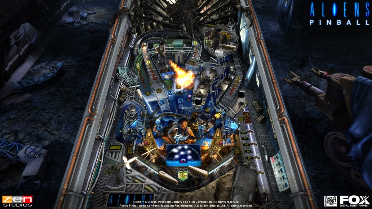 Screenshot for Zen Pinball 2: Aliens vs. Pinball on PlayStation 4