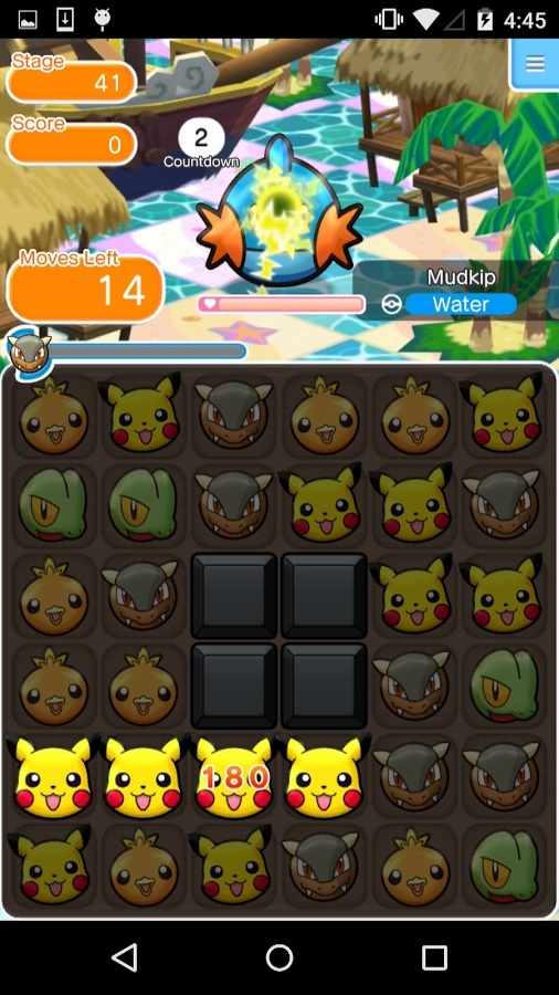 Screenshot for Pokémon Shuffle Mobile on Android