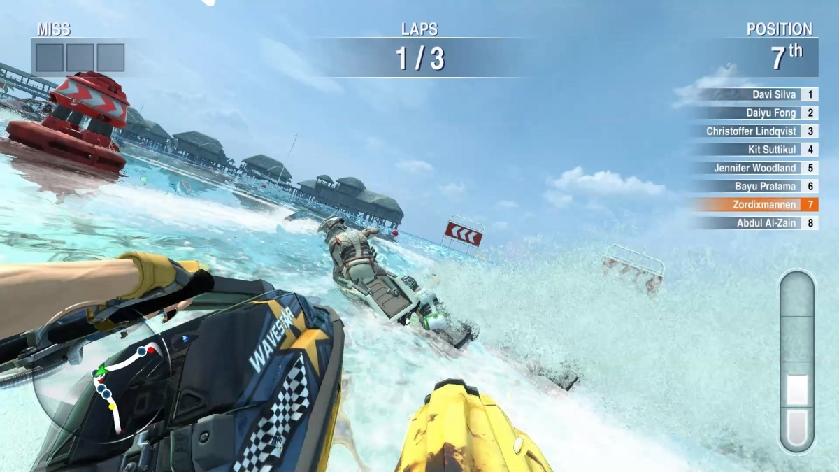 Screenshot for Aqua Moto Racing Utopia on Wii U