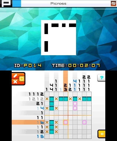 Screenshot for Picross e7 on Nintendo 3DS