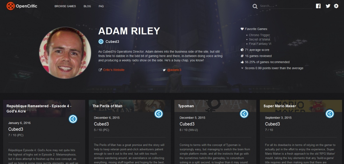 Image for OpenCritic Rolls Out Individual Critic Pages