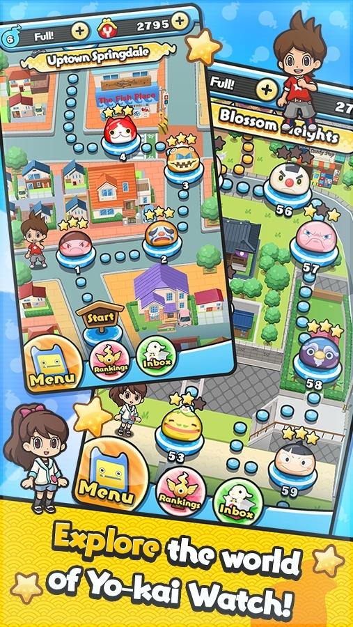 Screenshot for Yo-kai Watch: Wibble Wobble on Android