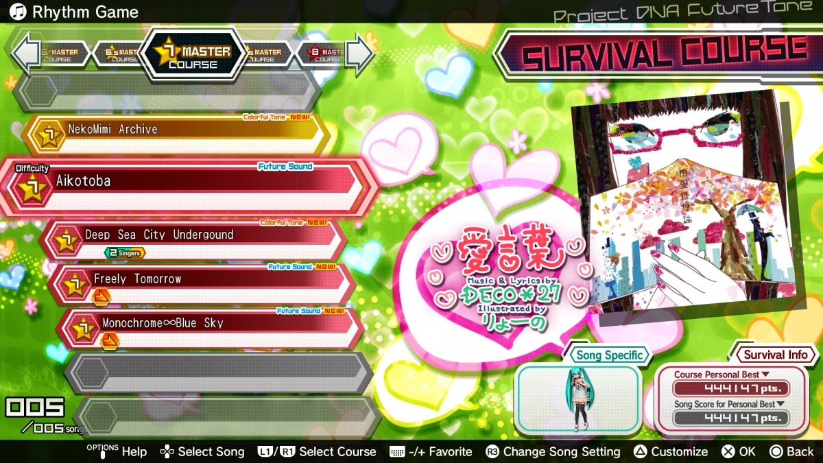 Screenshot for Hatsune Miku: Project Diva Future Tone on PlayStation 4