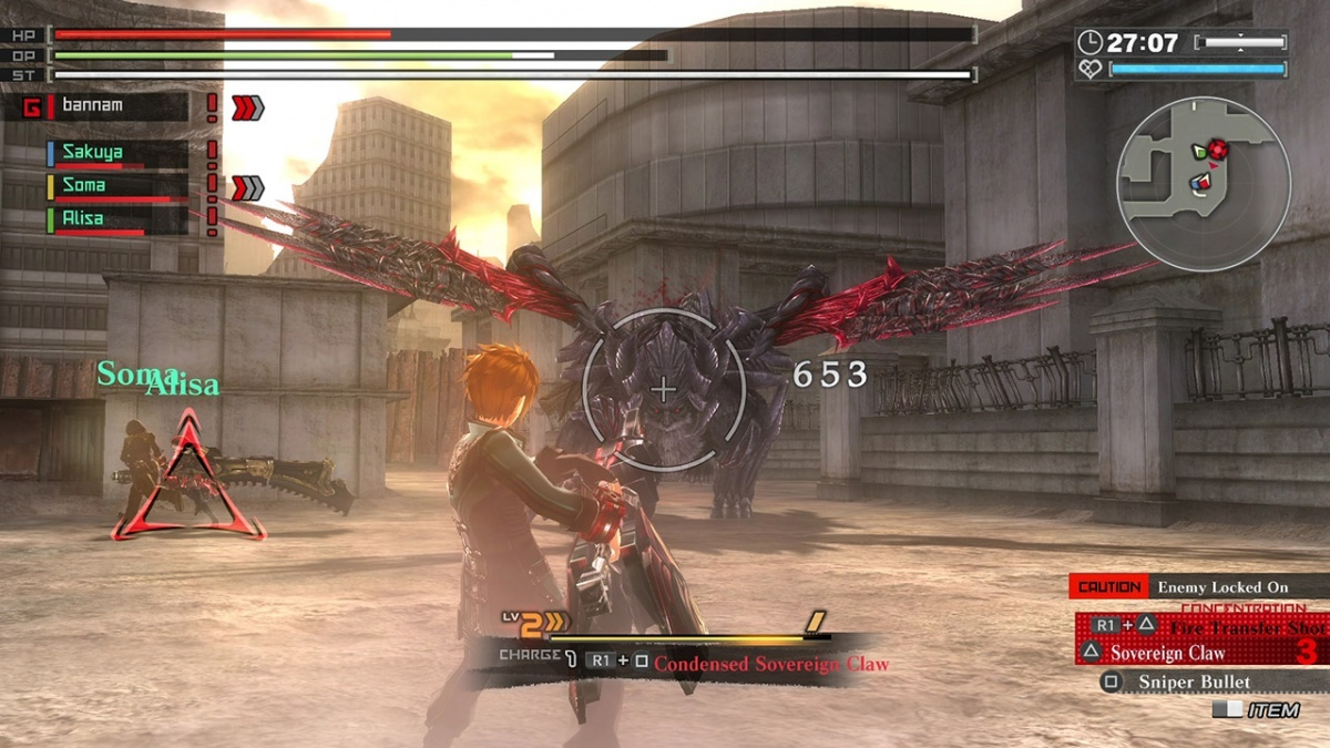 Screenshot for God Eater: Resurrection on PlayStation 4