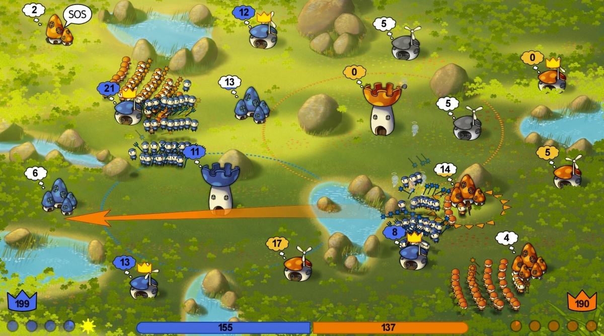Screenshot for Mushroom Wars on PC