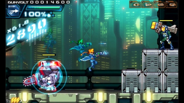 Screenshot for Azure Striker Gunvolt on PC