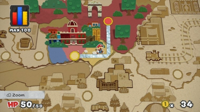 Screenshot for Paper Mario: Color Splash on Wii U
