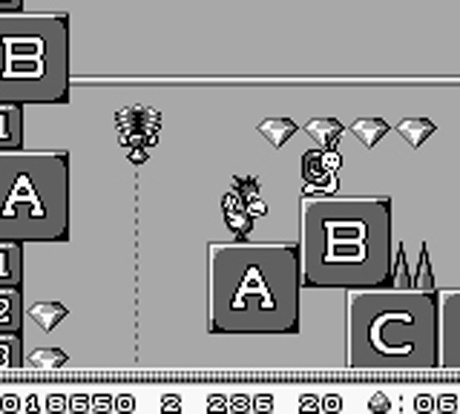 Screenshot for Alfred Chicken on Game Boy