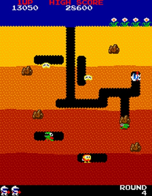 Screenshot for Dig Dug on Arcade