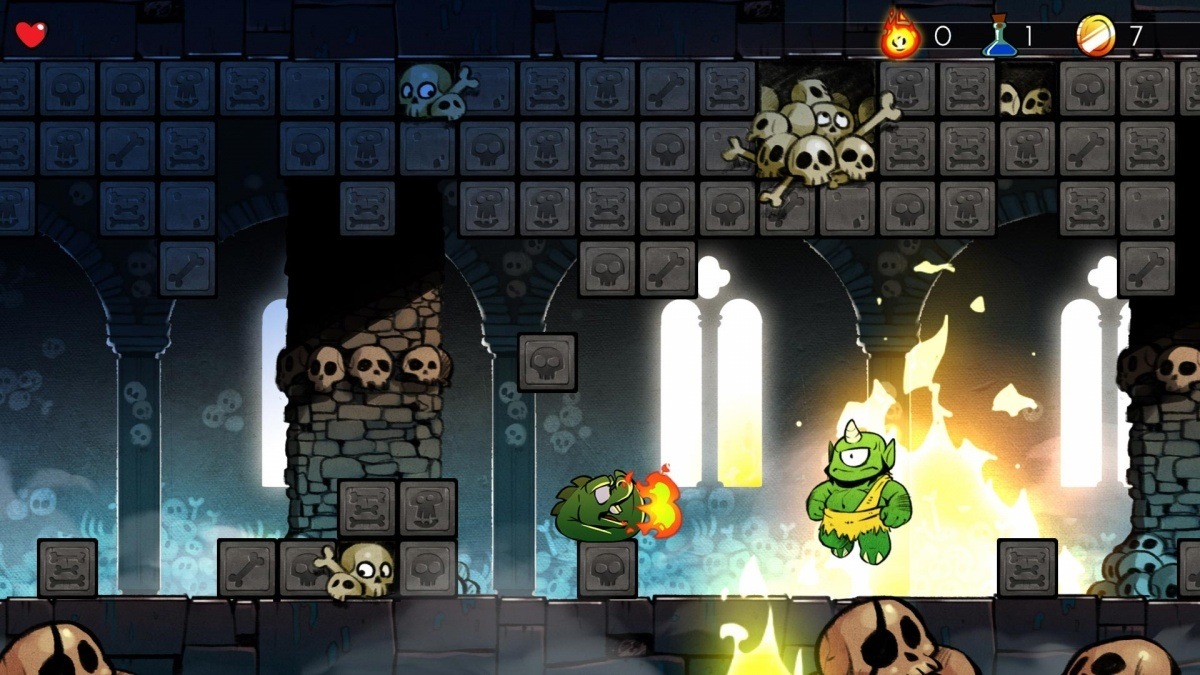 Screenshot for Wonder Boy: The Dragon's Trap on PlayStation 4