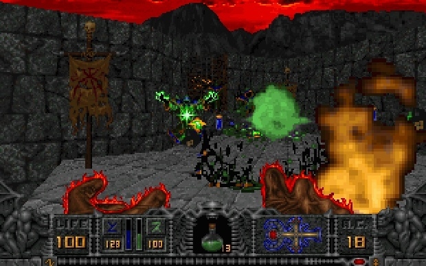 Screenshot for HeXen: Beyond Heretic on PC