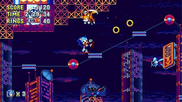 Screenshot for Sonic Mania on Nintendo Switch