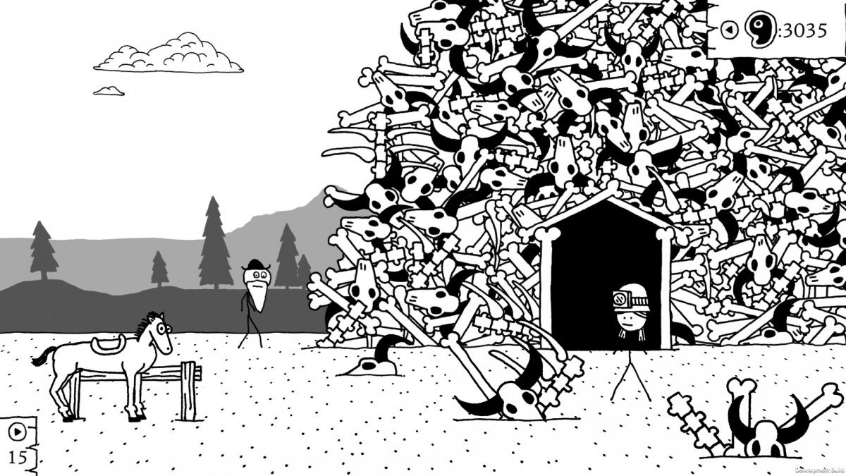 Screenshot for West of Loathing on PC