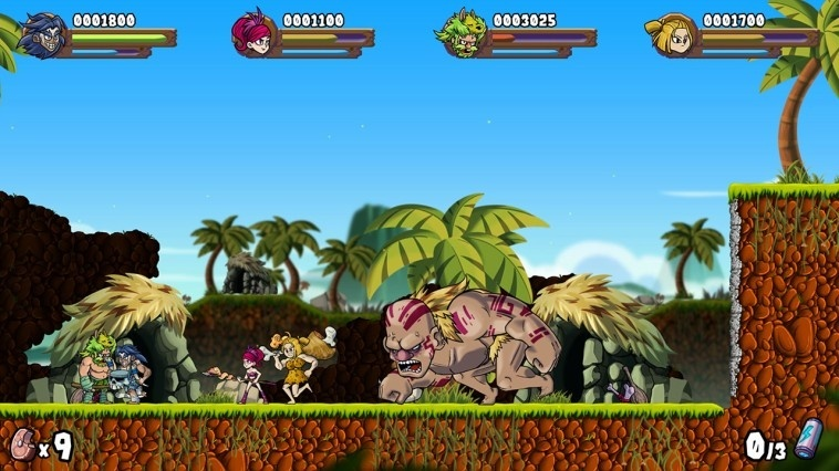 Screenshot for Caveman Warriors on Nintendo Switch