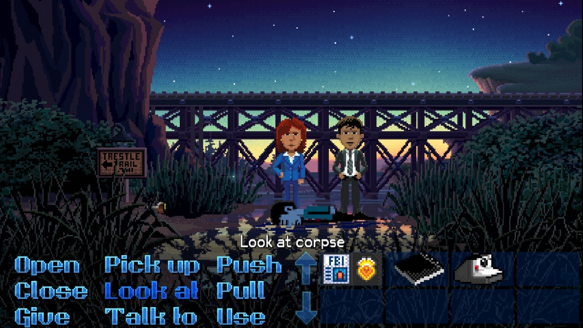 Screenshot for Thimbleweed Park on PC