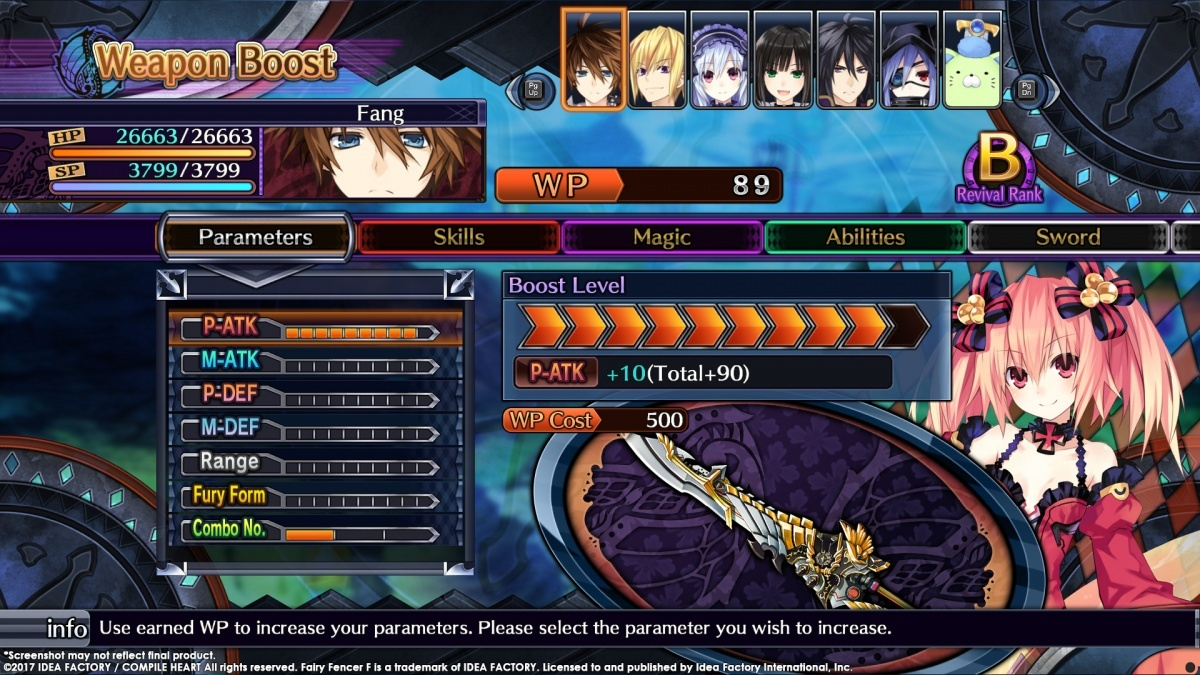Screenshot for Fairy Fencer F: Advent Dark Force on PC
