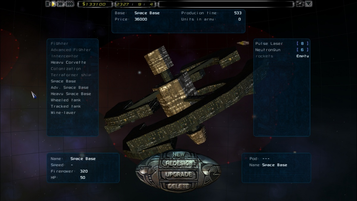 Screenshot for Imperium Galactica II on PC