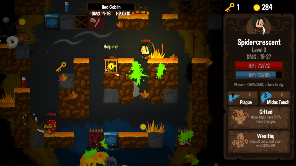 Screenshot for Vertical Drop Heroes HD on PlayStation 4