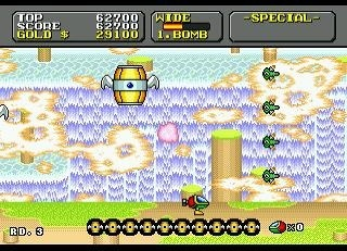 Screenshot for Super Fantasy Zone on Mega Drive