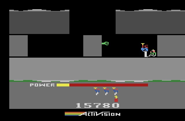 Screenshot for H.E.R.O. on Atari 2600
