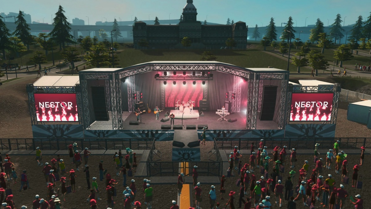 Screenshot for Cities: Skylines - Concerts on PC