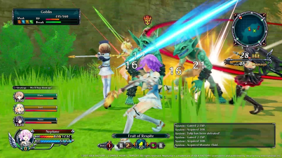 Screenshot for Cyberdimension Neptunia: 4 Goddesses Online on PlayStation 4