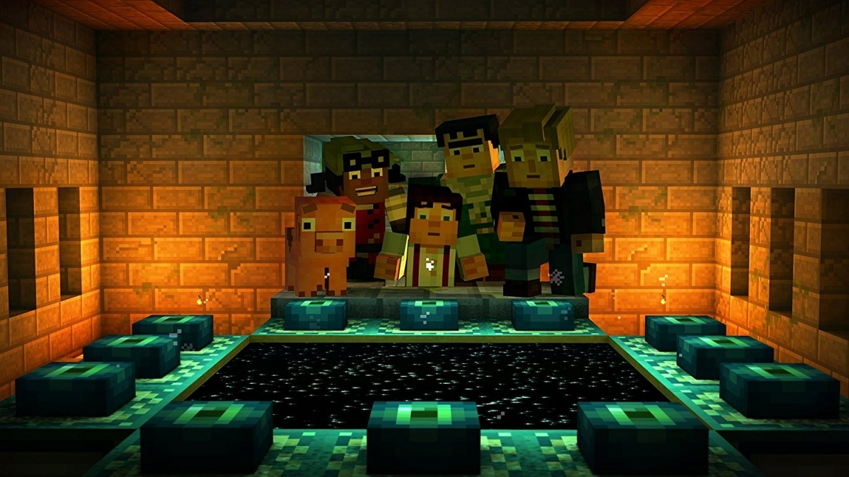 Screenshot for Minecraft: Story Mode - The Complete Adventure on Nintendo Switch