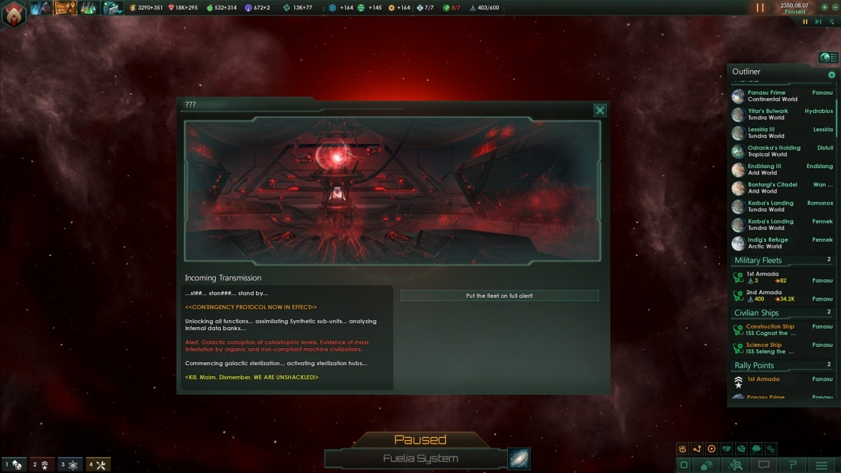 Screenshot for Stellaris: Synthetic Dawn on PC