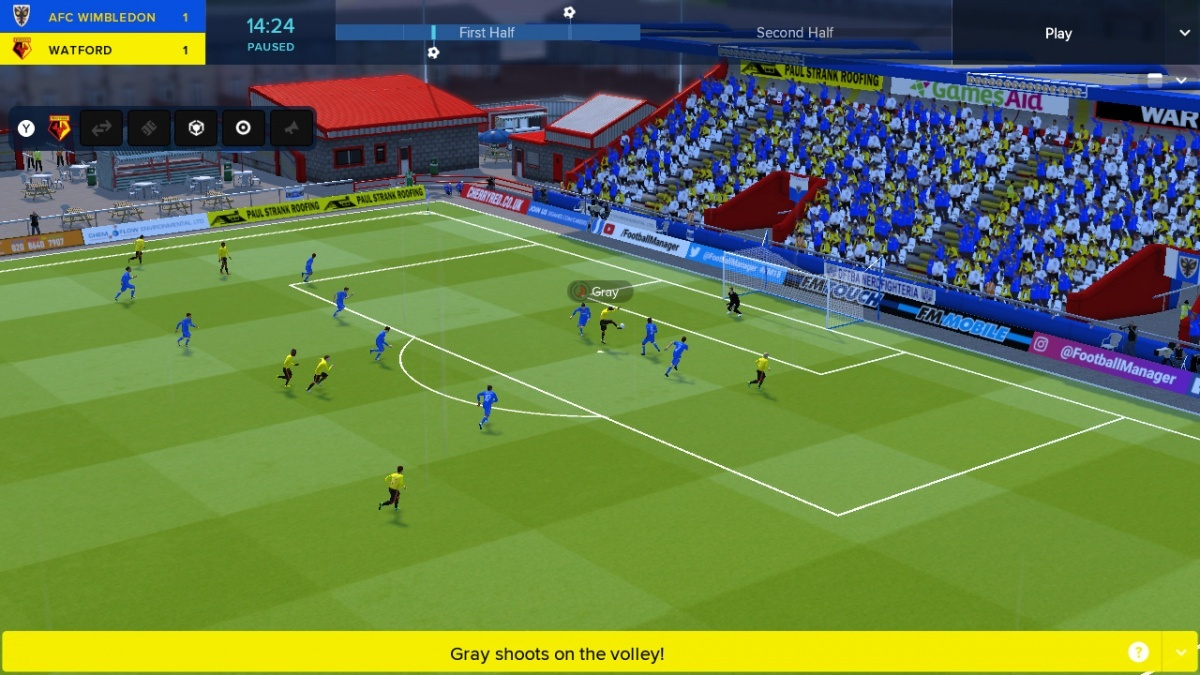 Screenshot for Football Manager Touch 2018 on Nintendo Switch