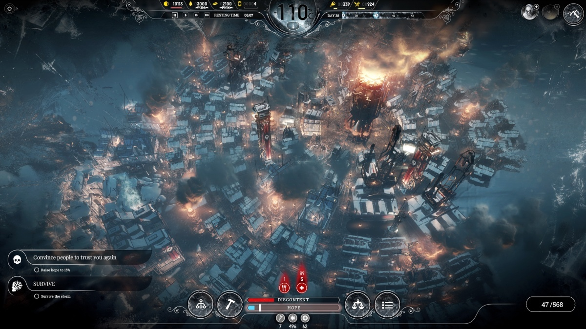 Screenshot for Frostpunk on PC