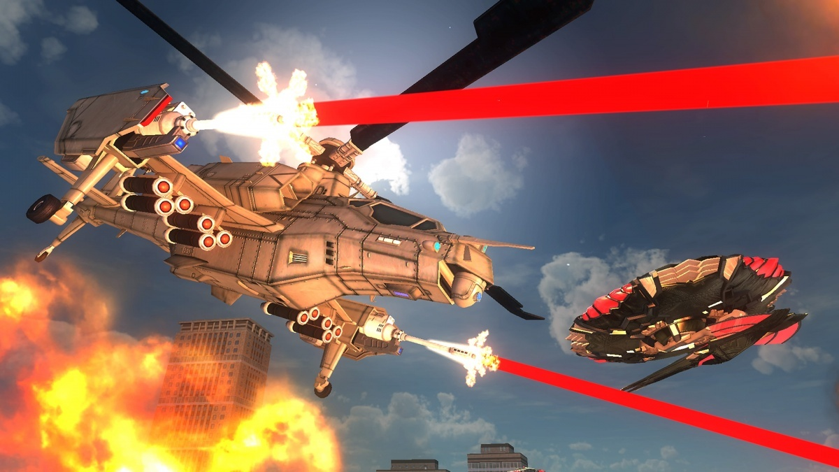 Screenshot for Earth Defense Force 5 on PlayStation 4