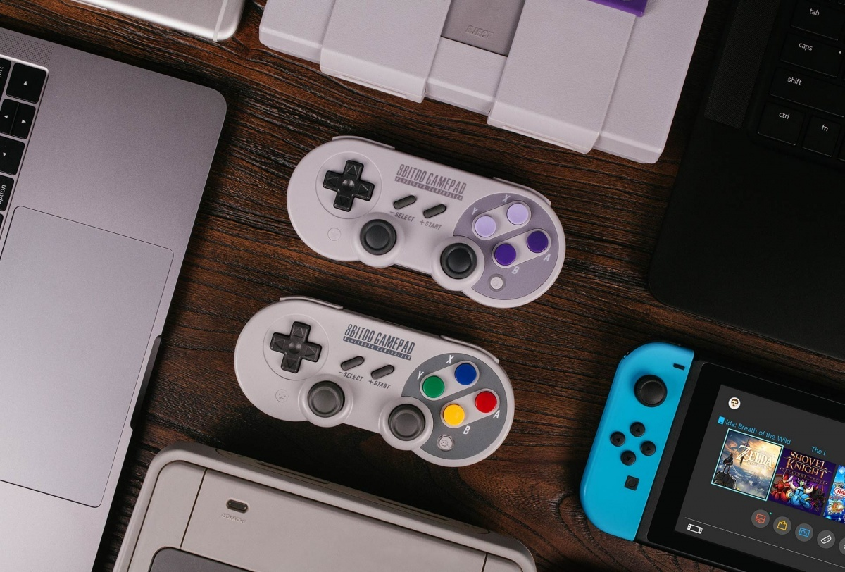 Image for Tech Up! 8Bitdo SF30 Pro Bluetooth Gamepad Review