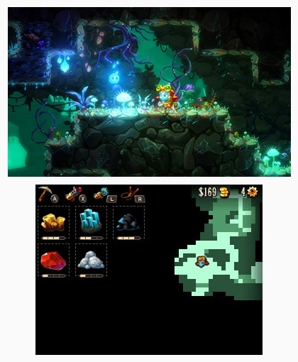 Screenshot for SteamWorld Dig 2 on Nintendo 3DS