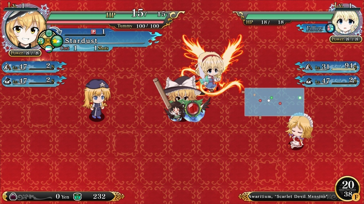 Screenshot for Touhou: Genso Wanderer Reloaded on Nintendo Switch