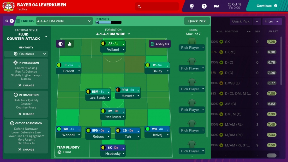 Screenshot for Football Manager 2019 Touch on Nintendo Switch