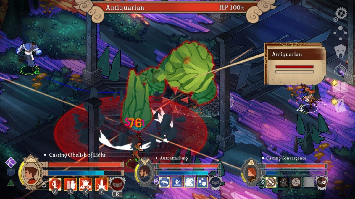 Screenshot for Masquerada: Songs and Shadows on Nintendo Switch