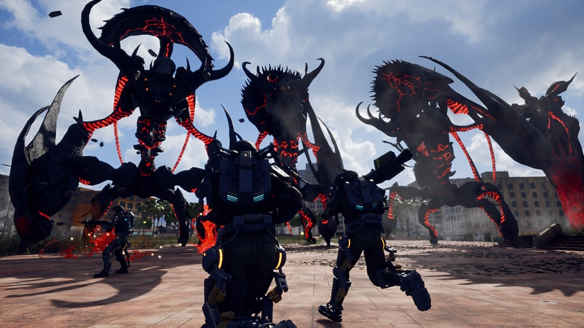 Screenshot for Earth Defence Force: Iron Rain on PlayStation 4