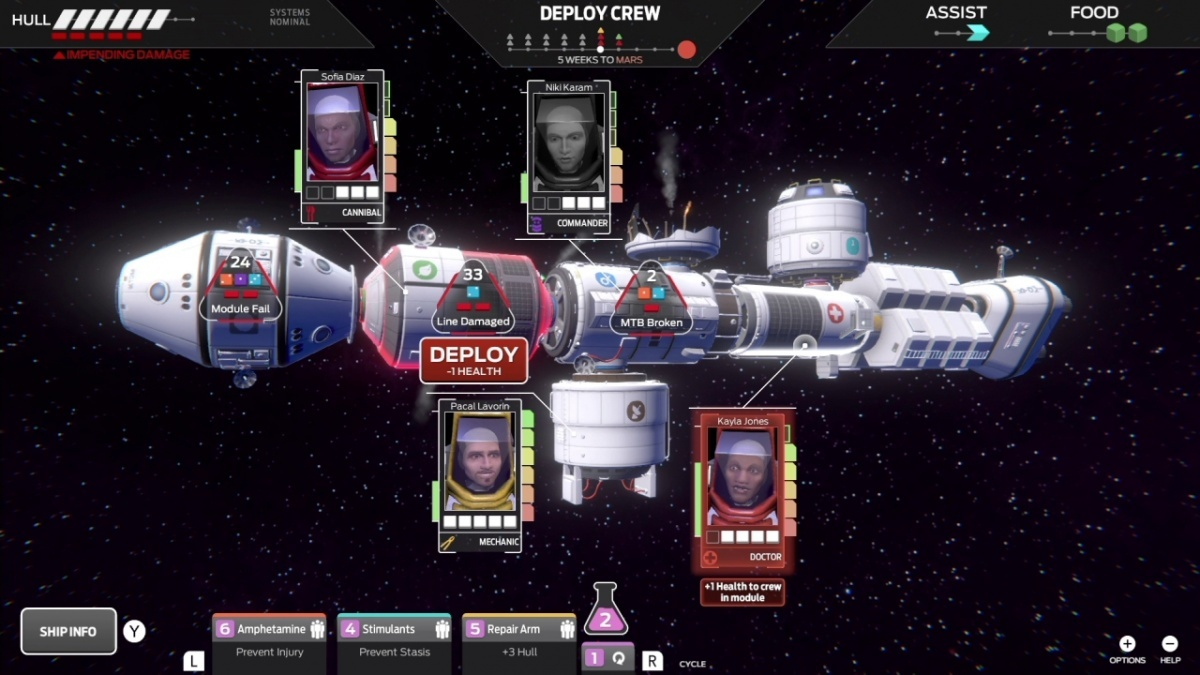 Screenshot for Tharsis on Nintendo Switch