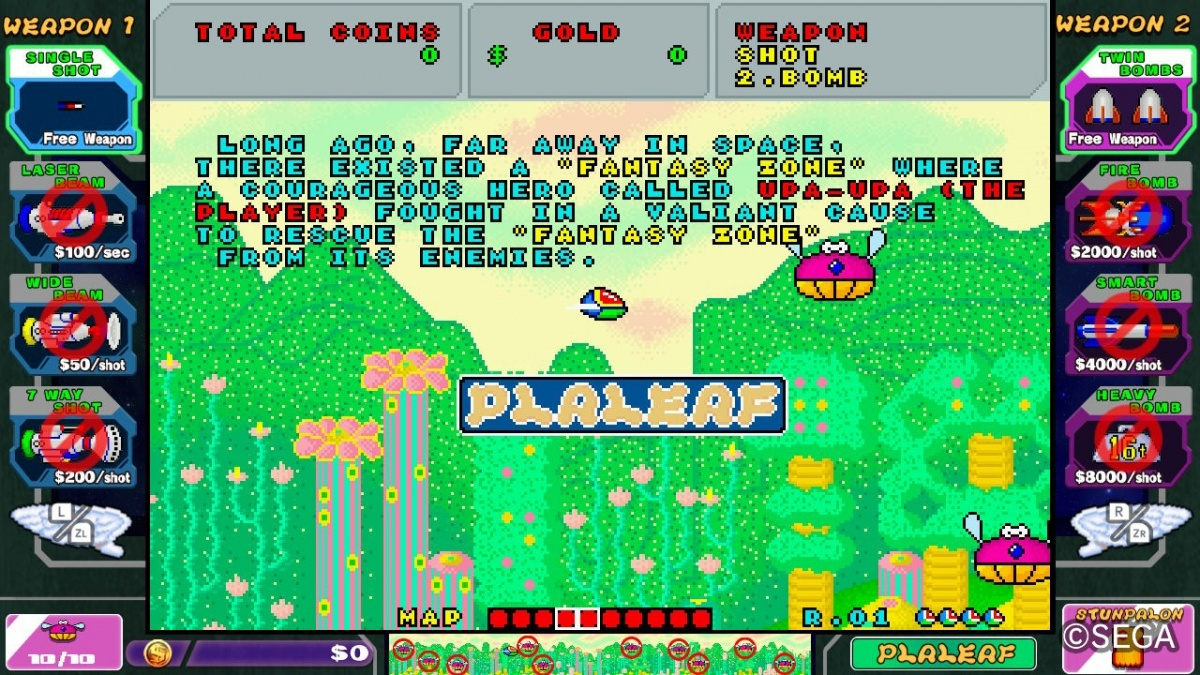 Screenshot for SEGA AGES Fantasy Zone on Nintendo Switch