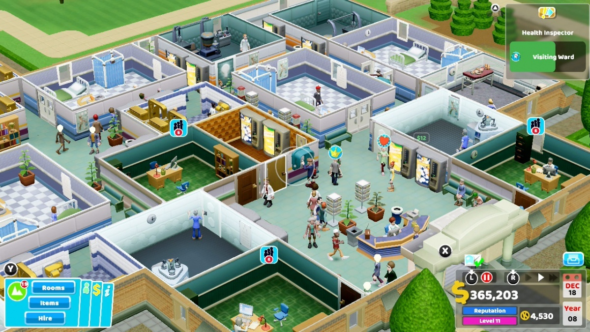 Screenshot for Two Point Hospital on Nintendo Switch