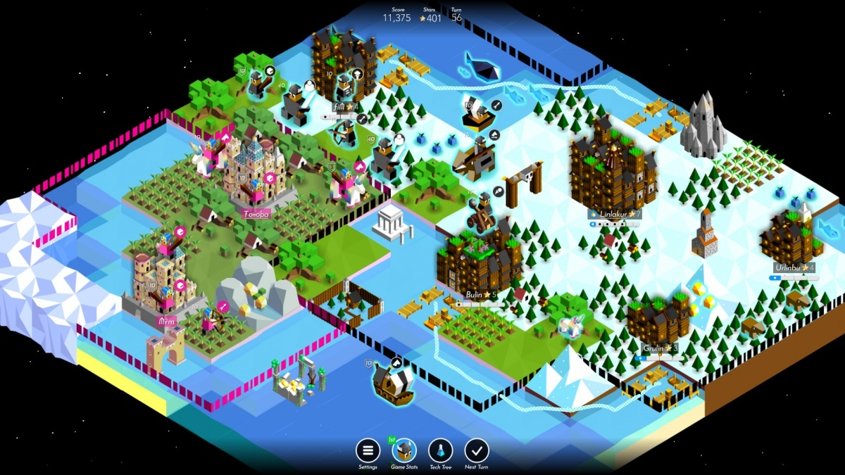 Screenshot for Battle of Polytopia on PC