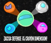 Box art for ZaciSa: Defense of the Crayon Dimension!