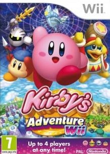 Box art for Kirby's Adventure Wii