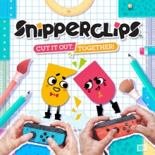 Box art for Snipperclips: Cut it Out, Together!