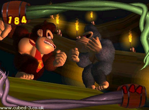 Screenshot for Donkey Kong Jungle Beat on GameCube - on Nintendo Wii U, 3DS games review