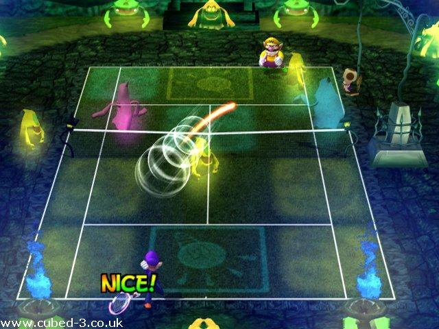 Screenshot for Mario Power Tennis on GameCube- on Nintendo Wii U, 3DS games review