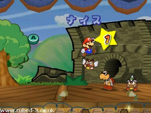 Screenshot for Paper Mario The Thousand Year Door (Hands On) on GameCube